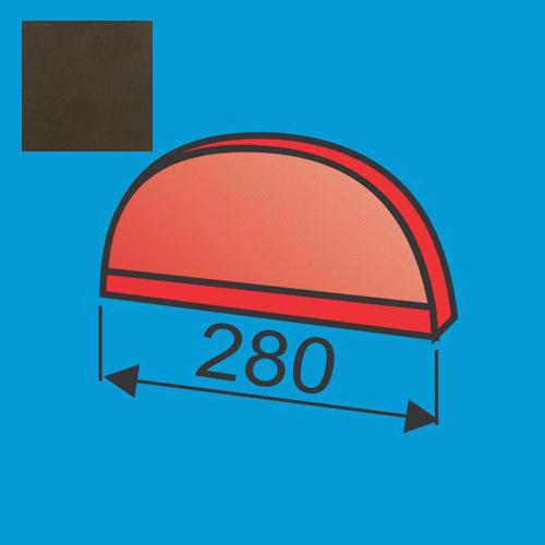 Apvalaus kraigo dangtelis Tamsiai Ruda poliesteris 0,5mm, vnt