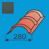 Apvalus kraigas L=1980 Grafito Pilka poliesteris 0,5mm, vnt