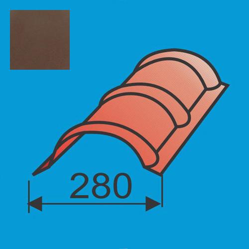 Apvalus kraigas L=1980 Ruda poliesteris DP 0,5mm, vnt