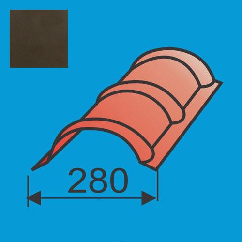 Apvalus kraigas L=1980 Tamsiai Ruda poliesteris DP 0,5mm, vnt