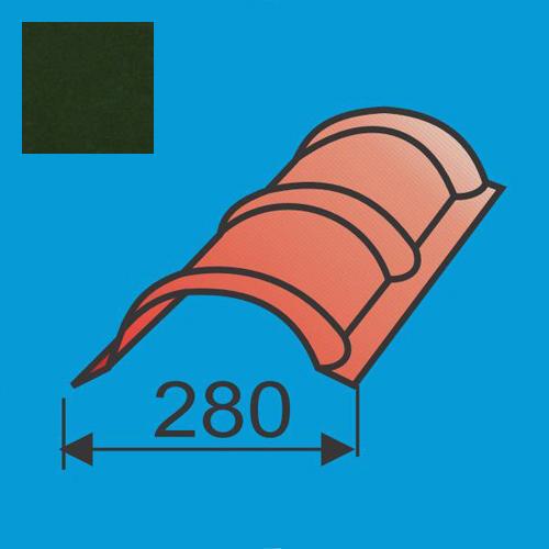Apvalus kraigas L=1980 Tamsiai Žalia poliesteris DP 0,5mm, vnt