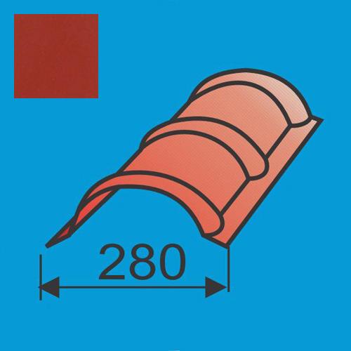 Apvalus kraigas L=1980 Raudona Vyšnia poliesteris DP 0,5mm, vnt