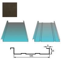 Stogų danga Classic 0,5mm Prelaq Nova 50mk tamsiai ruda, m²