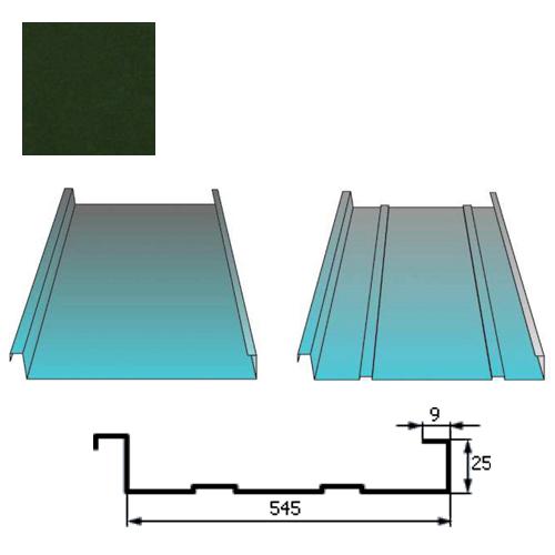 Stogų danga Classic 0,5mm Prelaq Nova 50mk t.žalia, m²