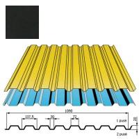 Sienų danga DP18 0,5mm poliesteris 27mk juoda, m²