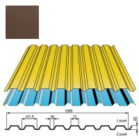 Sienų danga DP18 0,5mm poliesteris 27mk ruda, m²