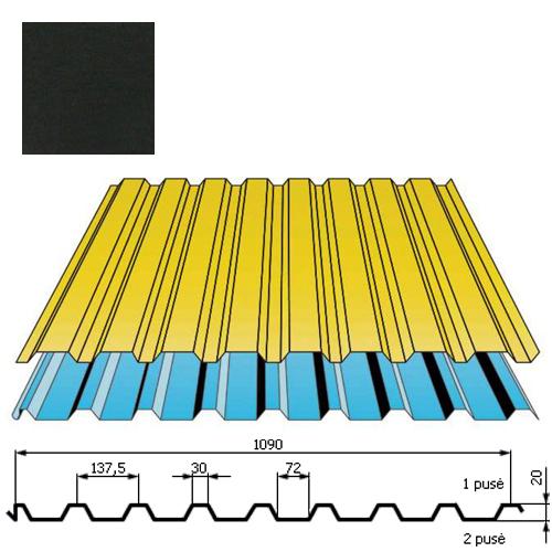 Stogo danga DP20 0,5mm poliesteris 27mk juoda, m²