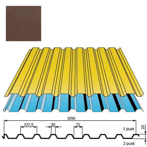 Stogo danga DP20 0,5mm Prelaq Nova 50mk ruda, m²