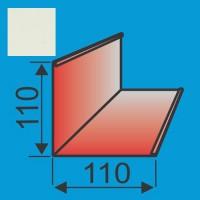 Išorinis kampas 110x110 L=2000 Balta poliesteris 0,5mm, vnt