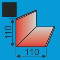 Išorinis kampas 110x110 L=2000 Juoda poliesteris 0,5mm, vnt