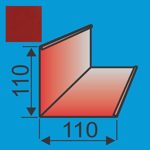 Išorinis kampas 110x110 L=2000 Raudona Purpurinė poliesteris DP 0,5mm, vnt