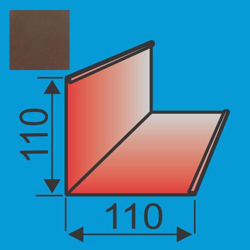 Išorinis kampas 110x110 L=2000 Ruda poliesteris 0,5mm, vnt