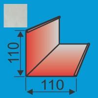 Išorinis kampas 110x110 L=2000 Sidabrinė poliesteris DP 0,5mm, vnt
