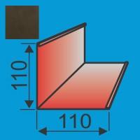 Išorinis kampas 110x110 L=2000 Tamsiai Ruda poliesteris 0,5mm, vnt