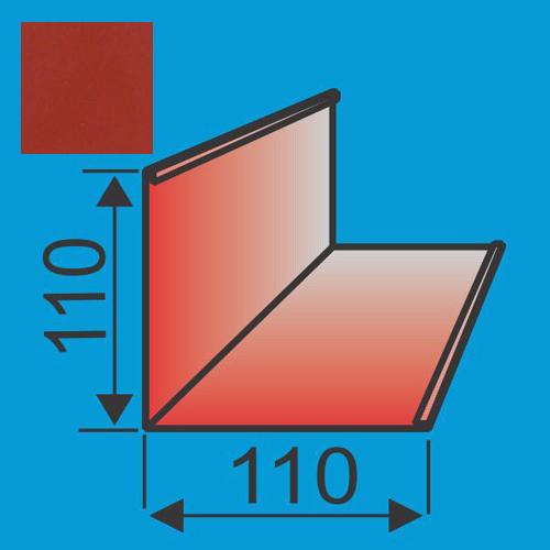 Išorinis kampas 110x110 L=2000 Raudona Vyšnia poliesteris 0,5mm, vnt
