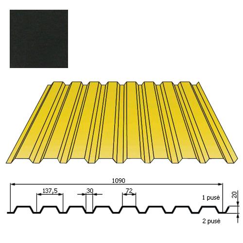 Kamino sienos profilis DP18 1,09x2m Juoda poli DP 0,5mm, vnt
