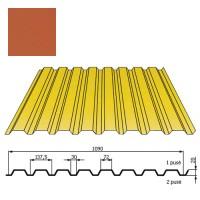Kamino sienos profilis DP18 1,09x2m Raudona Molio poli 0,5mm, vnt