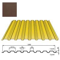 Kamino sienos profilis DP18 1,09x2m Ruda poli DP 0,5mm, vnt