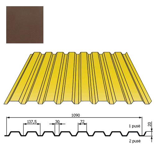 Kamino sienos profilis DP18 1,09x2m Ruda poli 0,5mm, vnt