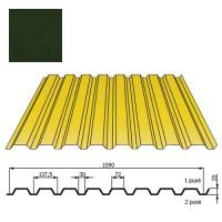 Kamino sienos profilis DP18 1,09x2m Tamsiai Žalia poli DP 0,5mm, vnt