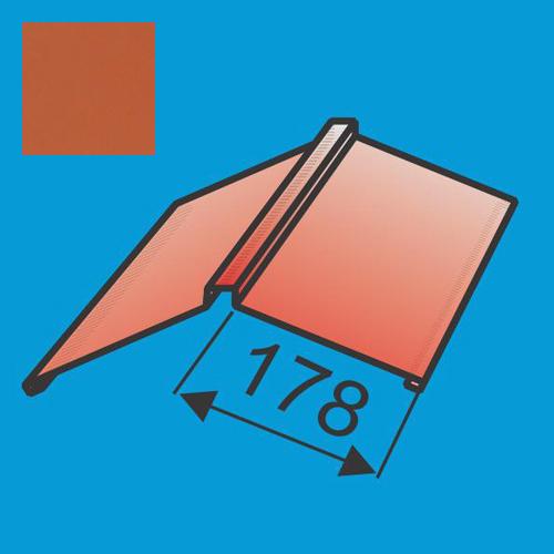 Kraigas 190x190 L=2000 Raudona Molio poliesteris 0,5mm, vnt