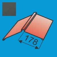 Kraigas 190x190 L=2000 Grafito Pilka poliesteris 0,5mm, vnt