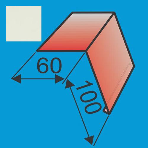 Laštakis 60x100 L=2000 Balta poliesteris 0,5mm, vnt