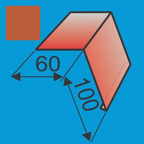Laštakis 60x100 L=2000 Raudona Molio poliesteris 0,5mm, vnt