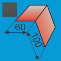 Laštakis 60x100 L=2000 Grafito Pilka poliesteris DP 0,5mm, vnt