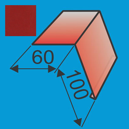 Laštakis 60x100 L=2000 Raudona Purpurinė poliesteris 0,5mm, vnt