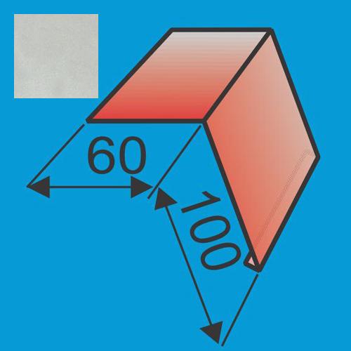 Laštakis 60x100 L=2000 Sidabrinė poliesteris 0,5mm, vnt