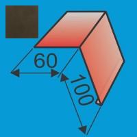 Laštakis 60x100 L=2000 Tamsiai Ruda poliesteris DP 0,5mm, vnt