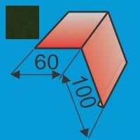 Laštakis 60x100 L=2000 Tamsiai Žalia poliesteris 0,5mm, vnt