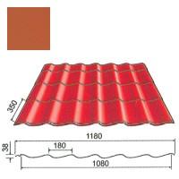 Plieninė čerpė Origami 0,5mm poliesteris 27mk molio, m²