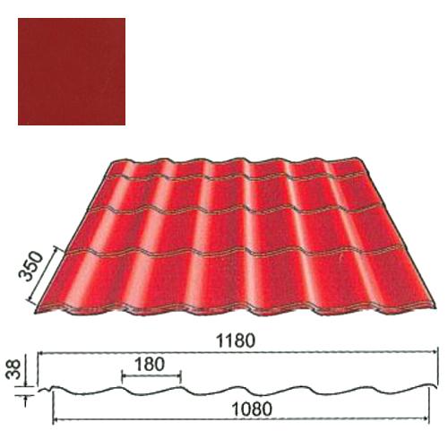 Plieninė čerpė Origami 0,5mm Prelaq Nova 50mk purpurinė, m²