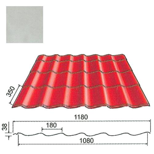 Plieninė čerpė Origami 0,5mm poliesteris 27mk sidabrinė, m²
