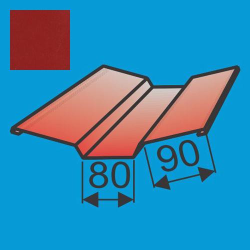 Viršutinė sąlaja 130x130 L=2000 Raudona Purpurinė poliesteris DP 0,5mm, vnt