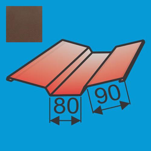 Viršutinė sąlaja 130x130 L=2000 Ruda poliesteris 0,5mm, vnt