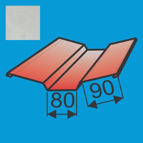 Viršutinė sąlaja 130x130 L=2000 Sidabrinė poliesteris 0,5mm, vnt