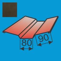 Viršutinė sąlaja 130x130 L=2000 Tamsiai Ruda poliesteris 0,5mm, vnt