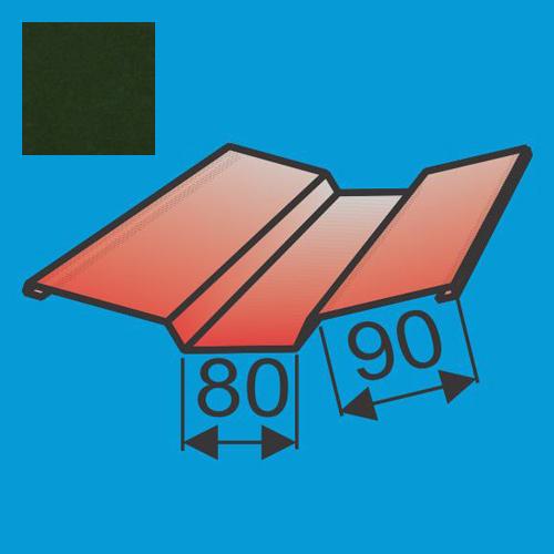 Viršutinė sąlaja 130x130 L=2000 Tamsiai Žalia poliesteris DP 0,5mm, vnt