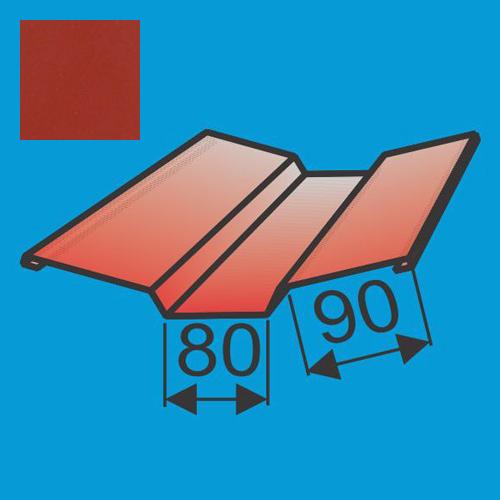 Viršutinė sąlaja 130x130 L=2000 Raudona Vyšnia poliesteris DP 0,5mm, vnt