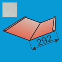 Sąlaja 290x290 L=2000 Sidabrinė poliesteris DP 0,5mm, vnt