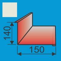 Stogo-sienos kampas 140x150 L=2000 Balta poliesteris 0,5mm, vnt