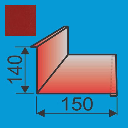 Stogo-sienos kampas 140x150 L=2000 Raudona Purpurinė poliesteris 0,5mm, vnt