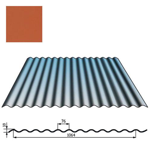 Stogų sienų danga SIN18 0,5mm poliesteris 27mk molio, m²