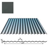 Stogų sienų danga SIN18 0,5mm poliesteris 27mk grafito, m²