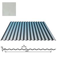 Stogų sienų danga SIN18 0,5mm poliesteris 27mk sidabrinė, m²