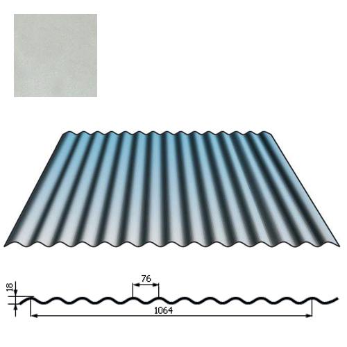 Stogų sienų danga SIN18 0,5mm Prelaq Nova 50mk sidabrinė, m²