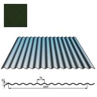 Stogų sienų danga SIN18 0,5mm poliesteris 27mk t.žalia, m²